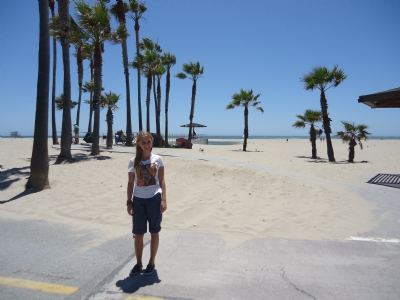 Op het Venice Beach strand in Los Angeles, CA